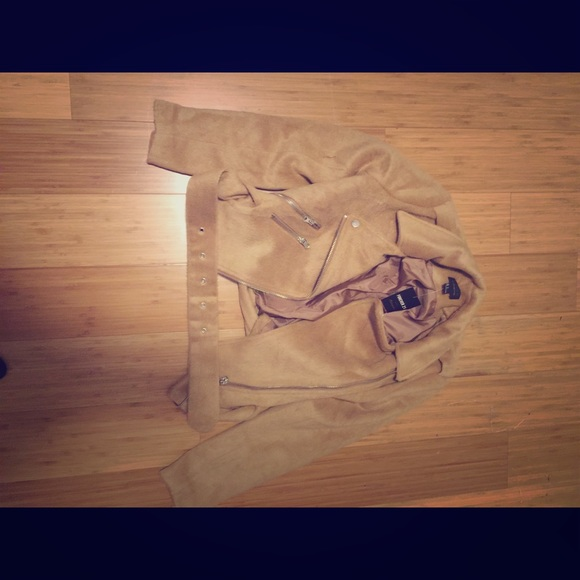 Forever 21 Jackets & Blazers - brown motorcycle jacket